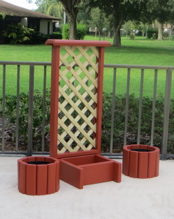 Small Trellis With Planter Box